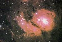 Vista da Nebulosa da Lagoa (M8)