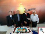 Veteranos do 1º GAvCa: Perdigão (1ª ELO). João Rodriguez, Osias e Ferreirinha. Foto: Luis Gabriel