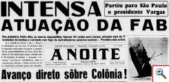 Pouco antes de completar um ano de existência, o 1º Grupo de Caça já era destaque no Teatro de Operações. Imagem: reprodução do jornal A Noite de 07 DEZ 1944